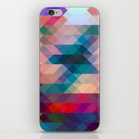 triangle iPhone & iPod Skins featuring TRIANGLE by Hands in the Sky
