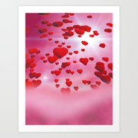 Sky is full of love Art Print