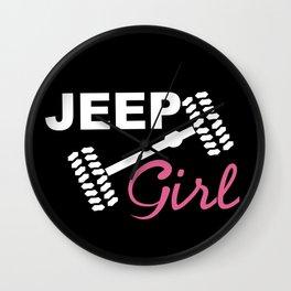 Jeep Girl Wall Clock