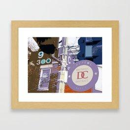Capitol Hill - Washington, DC -  historic sign street art - DC photography Framed Art Print