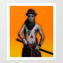Killer on the Loose Art Print