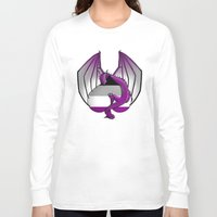 asexual Long Sleeve T-shirts featuring Asexual Wyvern by (i)Rene