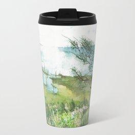 Summer by a lake Travel Mug