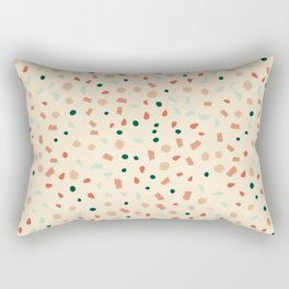 Earthy terazzo Rectangular Pillow
