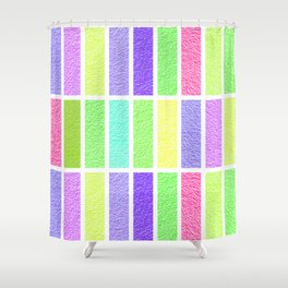 PASTEL RECTANGLES SHAPES  Shower Curtain