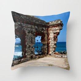 Aguadilla Ruins Throw Pillow