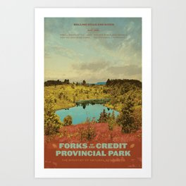 Forks of the Credit Provincial Park Art Print