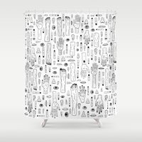 anatomy Shower Curtains featuring Anatomy by Frank Turner