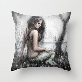 Mermaid's Rest Throw Pillow