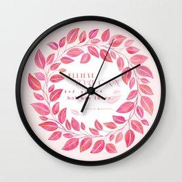 inspirational #1 Wall Clock