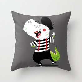 T-Rex Mime Throw Pillow