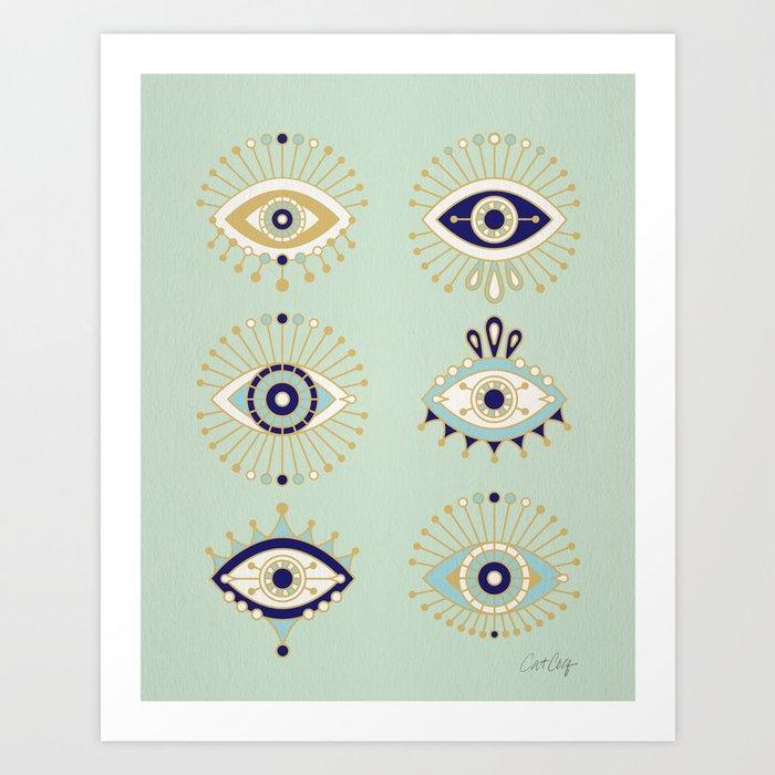 Evil Eye Collection Kunstdrucke