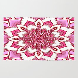 Mandala Flower : Pink Rug