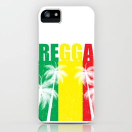 Reggae Jamaican Vacation product Gift Palm Tree Silhouette iPhone Case