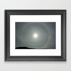 Sun Halo Framed Art Print