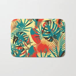 Abstract Exotique Leaves Badematte