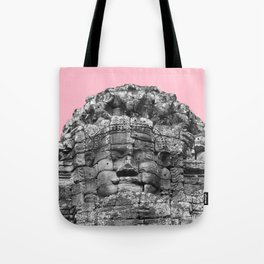 Buddha face with pink Tote Bag
