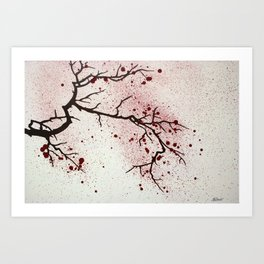 Cherry Branch Art Print
