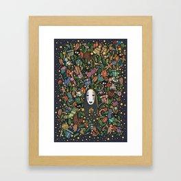 Kaonashi no-face christmas Framed Art Print