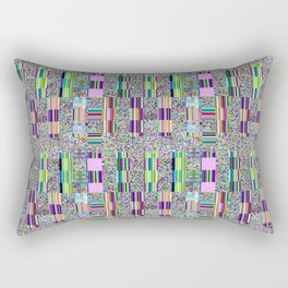 Glitch effect psychedelic background. Rectangular Pillow
