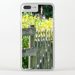 Quaint Country Gate Clear iPhone Case