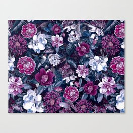 Floral Night Canvas Print
