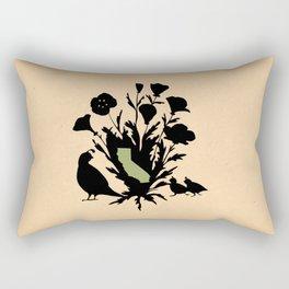 California - State Papercut Print Rectangular Pillow