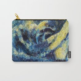 Rose in the Night. Blue. Painting Carry-All Pouch