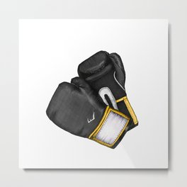 For the love of Boxing // BLACK & YELLOW Metal Print