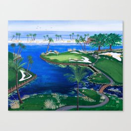 18th hole at the Beach Canvas Print