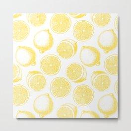 Hand drawn lemon pattern Metal Print