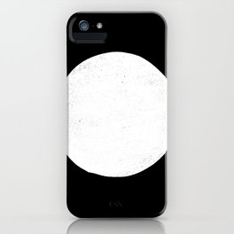 Linocut black and white dot minimalist polka dot iPhone Case