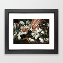 My Wife's Lovers by Carl Kahler, 1883 - Famous Cat Painting Framed Art Print