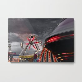 Midway At Dusk, County Fair, 2004 Metal Print