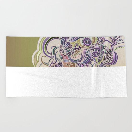 Detailed diagonal tangle Beach Towel