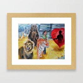 I'm Not Scared of Lions and Tigers and Bears, But I'm Scared of Loving You Framed Art Print