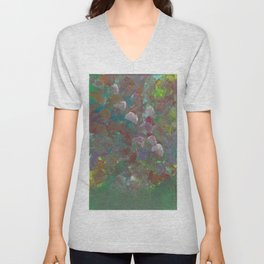 Abstract Flowers (Oil Paint) Unisex V-Neck