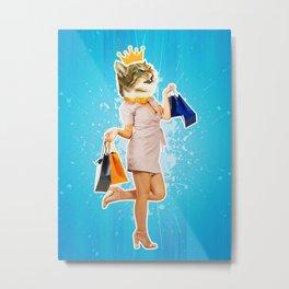 kitten contemporary art Metal Print