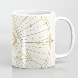 All-Seeing Eye Mandala – Gold Palette Coffee Mug