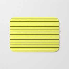 Black Lines On Yellow Bath Mat