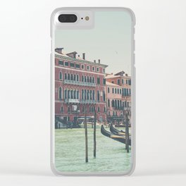 looking along the Grand Canal in Venice Clear iPhone Case