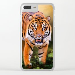 Father Tiger - Mother Earth Clear iPhone Case