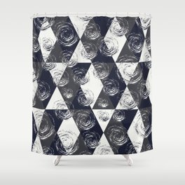 Circular Strokes Patched Pattern II Shower Curtain