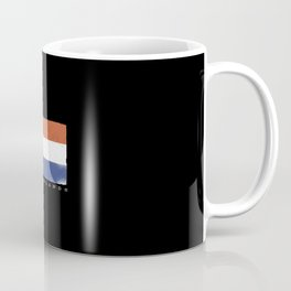 Flag of the netherlands with dutch quote Coffee Mug