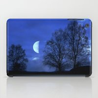 kindle iPad Cases featuring Moon between Trees  - JUSTART © by JUSTART