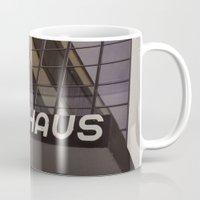 bauhaus Mugs featuring Bauhaus by Nat Alonso