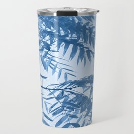 Blue Foliage Travel Mug