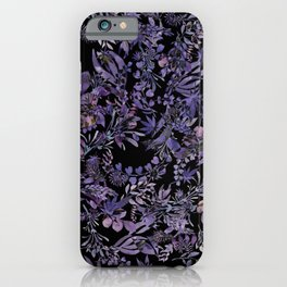 Lavender Hidden Pot Leaves iPhone Case
