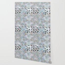 Yoga Asanas / Poses Sanskrit Word Art  Labradorite on pearl Wallpaper