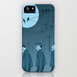 Birds and Men iPhone Case